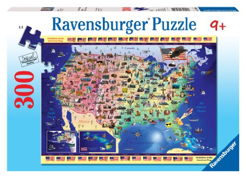 51jbh0%2BVtSL Reviews Ravensburger Usa Map   300 Pieces Puzzle