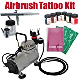 Airbrush Kit for Temporary Tattoo Arts Crafts