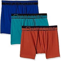 Chromozome Men's Cotton Boxer (Pack of 3) (8902733350099_WS 03_Medium_Navy, Orange and Aquatonic)