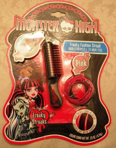 Monster High Freaky Fashion Streak Hair Streaker and 20 Hair Ties