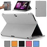 KHOMO ® Funda Gris Antideslizante Texturizada Estilo 3D para Tableta Samsung Galaxy Tab 3 10.1