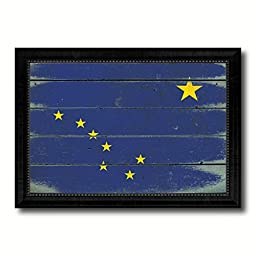Alaska State Vintage Flag Art Collection Western Shabby Cottage Chic Interior Design Office Wall Home Decor Gift Ideas, 27\