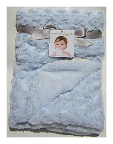 "Blankets & Beyond Soft Swirl Blue Blanket - 30"" X 30"""