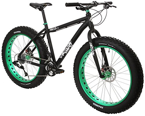 Framed Minnesota 2.0 Fat Bike Black/Green Sz 18""