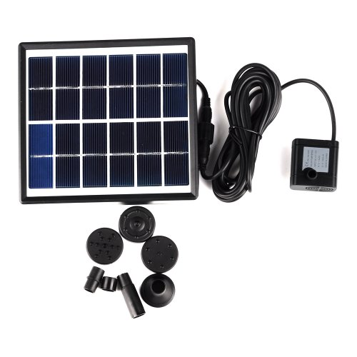 Victsing 1.5W Smart Solar-Powered Submersible Water Pump Garden Fountain Pool Water Features
