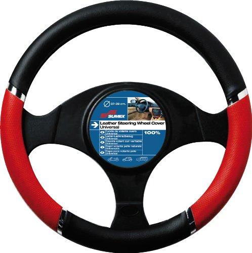 Sumex 2505058 Carplus - Copri Volante Pvc Speed Rosso-Nero, 37-39 cm