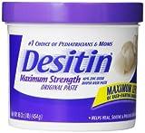 Desitin 40% Zinc Oxide Maximum Strength Diaper Rash Paste, 16 oz (Pack of 2)