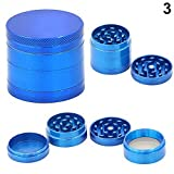 SUIE-Industry-Herb-Spice-Tobacco-Leaves-Weed-Grinder-With-Pollen-Catcher-4-Layers-Metal-Tobacco-Crusher-Hand-Muller-Smoke-Herbal-Herb-Grinder-Blue