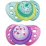Chicco Natural Fit Flair Pacifier, Pink, 12 Months Plus By Chicco
