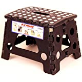 Black Ez Foldz Step Stool / Bench, 9 High -Affordable Gift for your Loved One! Item #DCHI-XIM-ST22-BLA