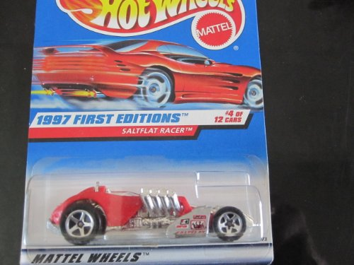 Saltflat Racer (Red W/5 Spoke Wheels) Hot Wheels 1997 First Edition on RED Card - 1
