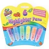 Kinder Mini Leuchtstifte Markierstifte Mit Frucht Duft Party Geschenk - 6 Stück