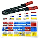 Neiko 50413A Solderless Wire Terminal and Connection Kit with Crimping/Wire Stripping Tool, 175-Piece
