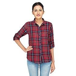 LondonHouze Full Sleeves Check Shirt (Small)