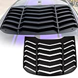 Yoursme Window Louvers Matte Black ABS Rear Window Scoop Cover in Lamborghini Style Fits for 2015 2016 2017 Ford Mustang
