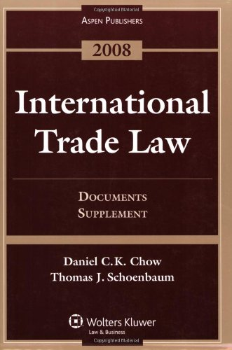 International Trade Law. Documents Supplement