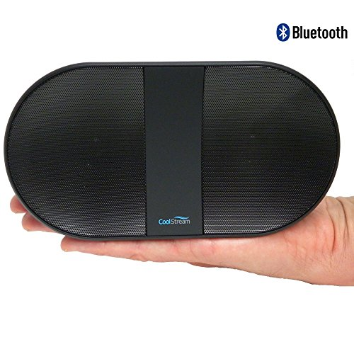 Wireless Speaker by CoolStream Portable Bluetooth Speaker with Rechargeable Battery for Laptop, iPhone, iPad, and Samsung Galaxy.