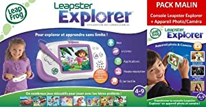 Leapfrog - 69002 - Jeu Éducatif et Scientifique - Leapster Explorer + Caméra - Rose