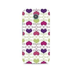 Ebby Heart Pattern Premium Printed Case For Moto E