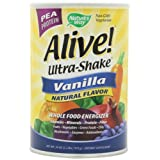 Alive! Pea Ultra-Shake Vanilla, 2.2 lbs Powder ~ Nature's Way