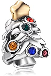 EGB Christmas Tree Bead Fits Pandora & Similar Charm Bracelets