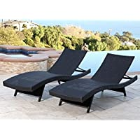 2-Pack Abbyson Living Redondo Outdoor Adjustable Chaise Lounges (Multiple Colors)