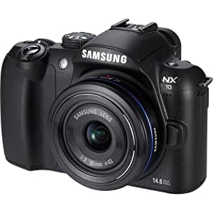 Samsung NX10 - Digital camera - prosumer - 14.6 Mpix - With 18-55mm Lens - supported memory: SD, SDHC -  black