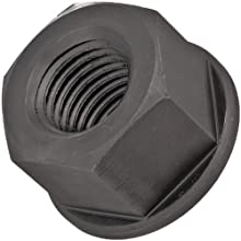 "Grade 8 Low Carbon Steel Flange Nut, UNC 2B Threads, 1/4""-20 Thread Size, 5/16"" Width Across Flats"