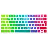 Se7enline Rainbow color Unique Ultra Thin Durable Keyboard Cover Silicone Skin (Europe Layout UK Version) for MacBook Pro 13