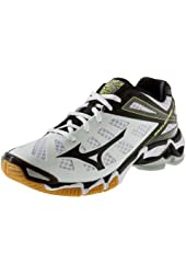 Mizuno Men's Wave Lightning RX3 Volleyball Shoes - White & Black