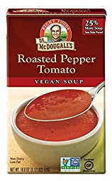 Dr. McDougall\'s Right Foods Roasted Pepper Tomato Soup, 18.0-Ounce Boxes (Pack of 6)