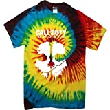 COD CALL OF DUTY GHOSTS RAINBOW TYE DIE CASUAL T SHIRT