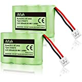 2-Pack iMah Ryme B12 Rechargeable Cordless Phone Battery for AT&T 2422 2250 2255 3000 4051 VTech 80-5074-00-00 GE TL96155 Sanik 3SN-2/3AA30-S-J1 Home Handset Telephone