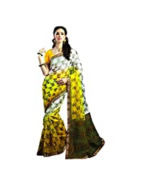 De Marca Off-White Net Designer Viva28 Saree