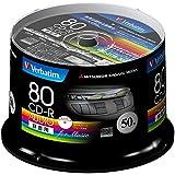 三菱化学メディア Verbatim 音楽用CD-R 80分 1回録音用 48倍速 スピンドルケース 50枚 インクジェットプリンタ対応(ホワイト) ワイド印刷エリア対応 MUR80FP50SV1 ランキングお取り寄せ