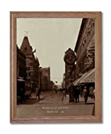 Downtown 17th Street Denver Colorado 1900 Photo Wall Picture Oak Framed Art Print