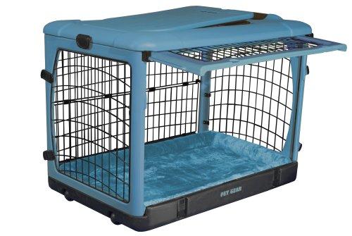 Artikelbild: Pet Gear Hundekäfig The Other Door, Stahl, mit Plüsch-Unterlage, klein, Meerblau