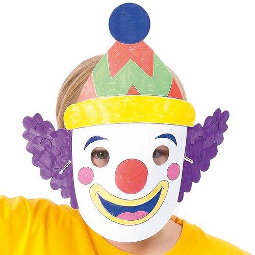 Masken zum basteln und ausmalen zirkus f r kinder for Zirkus dekoration