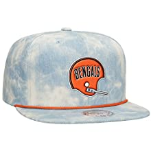 Cincinnatti Bengals NFL Lite Acid Wash Denim Snapback Cap by Mitchell & Ness