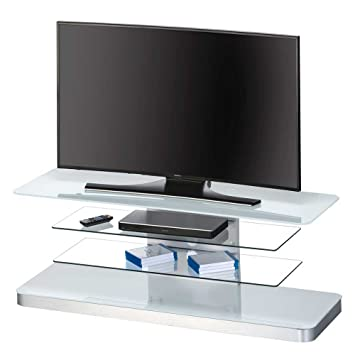 TV Board in Weiß Glas Pharao24