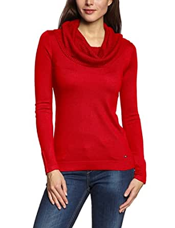 ESPRIT Pull-over Manches longues Femme - Rouge - Rot (610 FIRE RED) - 44