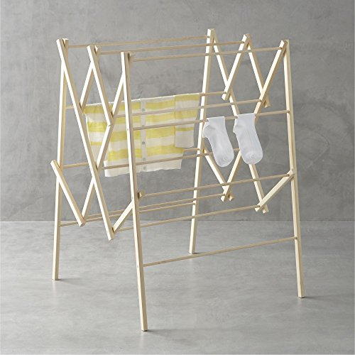 Crate And Barrel Large Wood Drying Rack