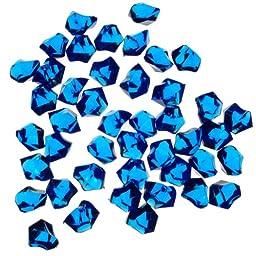 CYS Vase Filler Acrylic Ice, Cobalt Blue, 1 lb bag (4 bags)