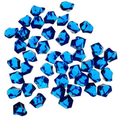 1 X Translucent Royal Blue Acrylic Ice Rocks for Vase Fillers or Table Scatters (Royal Blue Ice Gems compare prices)