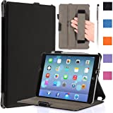 i-Blason Apple iPad Air Case Auto Wake /Sleep Smart Case Smart Cover Slim Folio Book Shell Stand case Cover Wifi 3G 4G LTE with Stylus Loop & Bonus Stylus (Black) Reviews