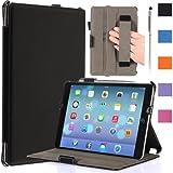 i-Blason Apple iPad Air Case Auto Wake /Sleep Smart Case Smart Cover Slim Folio Book Shell Stand case Cover Wifi 3G 4G LTE with Stylus Loop & Bonus Stylus (Black) Reviews