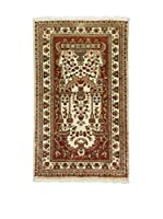 L'Eden del Tappeto Alfombra Kashmirian F/Seta Marrón / Marfil 152  x  92 cm