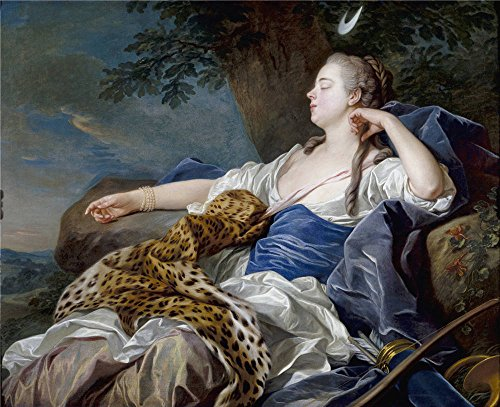 The High Quality Polyster Canvas Of Oil Painting 'Loo Louis Michel Van Diana En Un Paisaje 1739 ' ,size: 16 X 20 Inch / 41 X 50 Cm ,this Beautiful Art Decorative Prints On Canvas Is Fit For Nursery Decoration And Home Decoration And Gifts