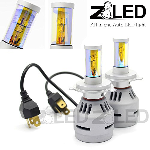 Z8 2X All-In-One H4 9003 Hb2 High-Low Beam Yellow Color 3000K 6000 Lumen Super Bright Auto Headlight Direct Plug Cree-Xm-L2 Chip Z8Led 3Gh43000K