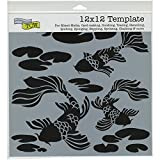 Crafters Workshop Koi Pond Crafter's Workshop Template, 12-Inch by 12-Inch